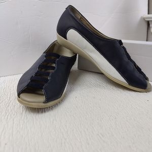 Charlize Blue White Cloud Slip On Euro Shoes